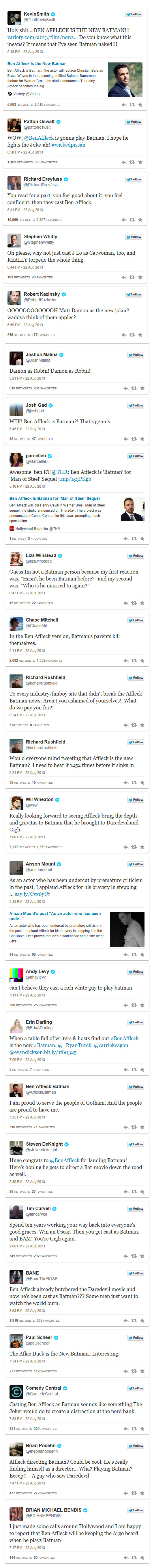 Batman Tweets