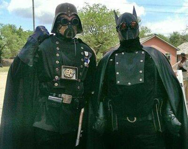 Steampunk Darth Vader and Batman